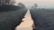 Sleepy River Hertford on a winter's dawn